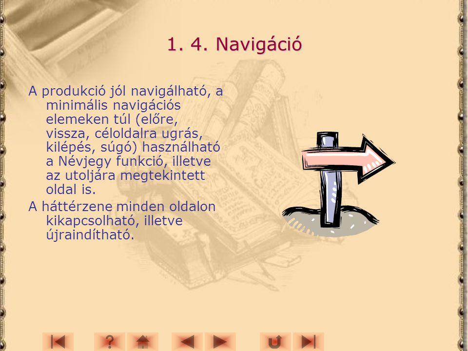 1. 4. Navigáció