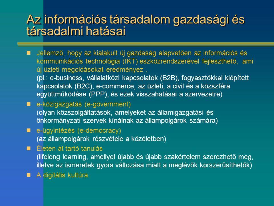 Az információs társadalom gazdasági és társadalmi hatásai