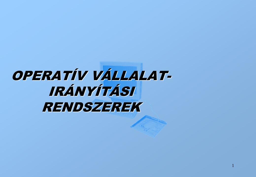 OPERATÍV VÁLLALAT-IRÁNYÍTÁSI RENDSZEREK