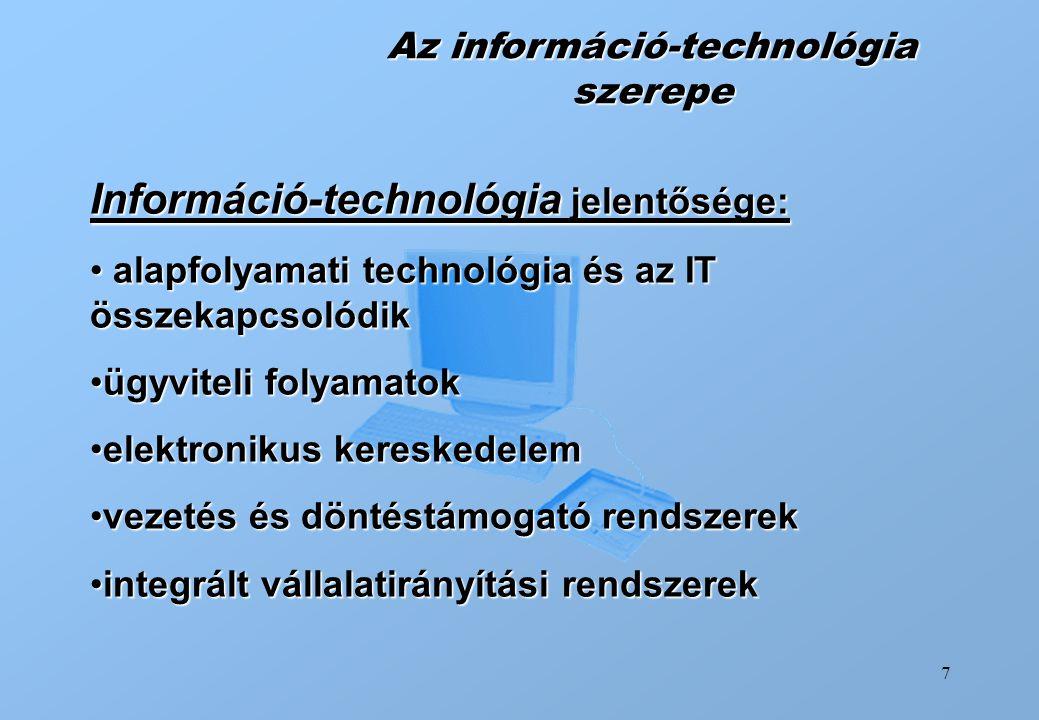 Az információ-technológia szerepe