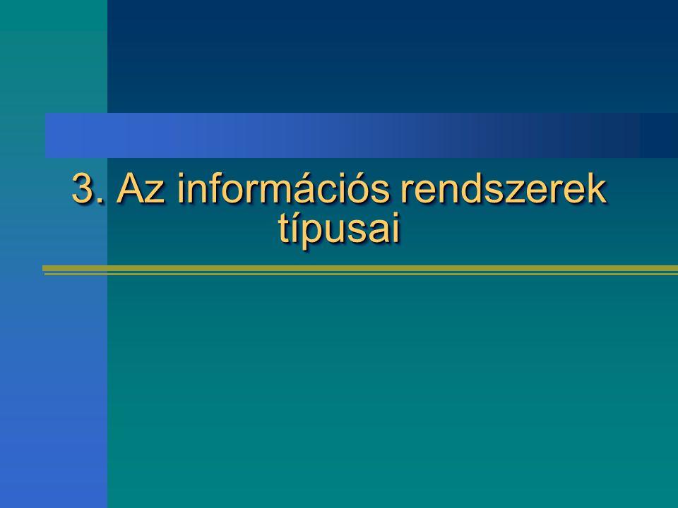 3. Az információs rendszerek típusai