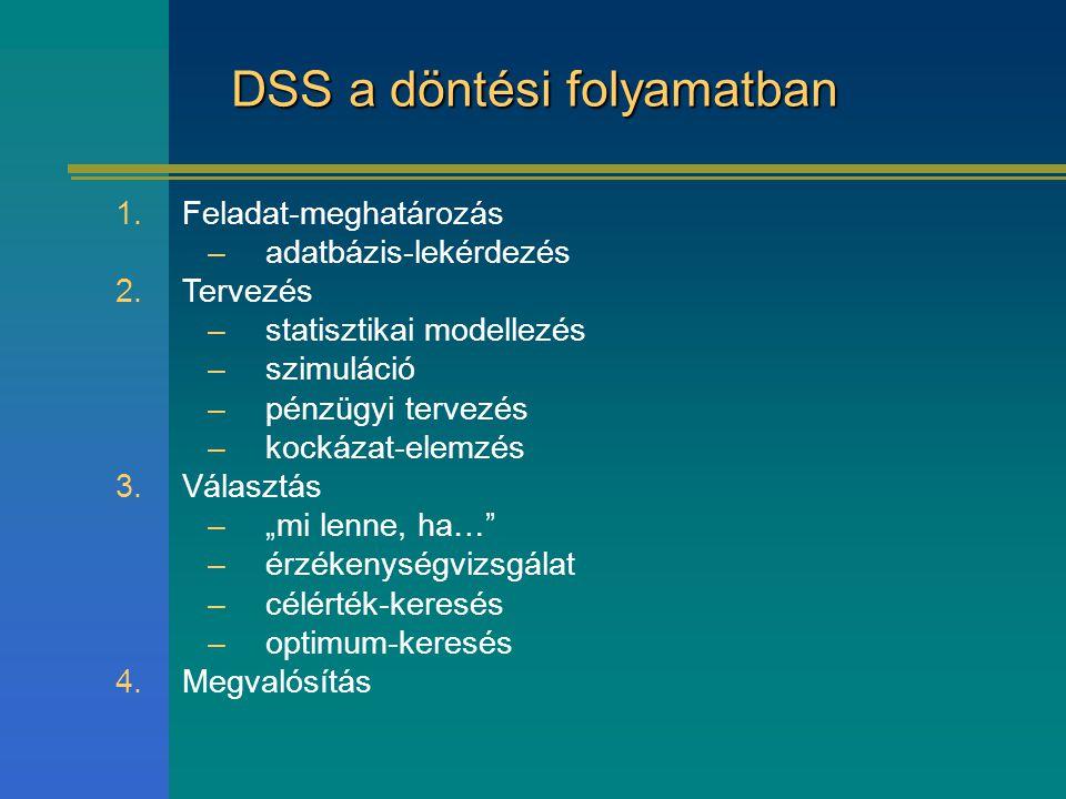 DSS a döntési folyamatban
