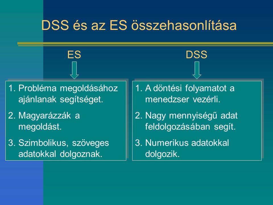 DSS és az ES összehasonlítása