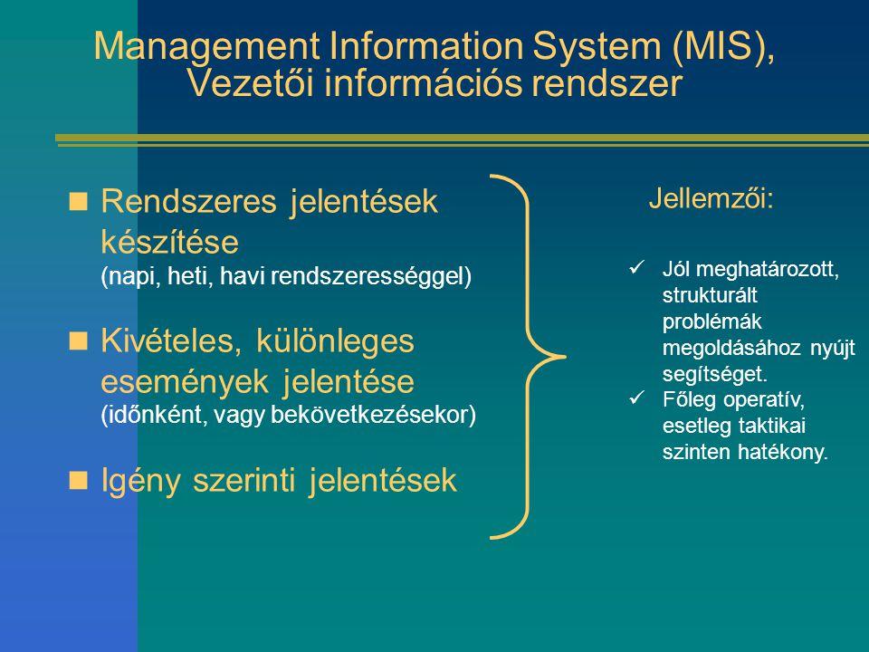 Management Information System (MIS), Vezetői információs rendszer