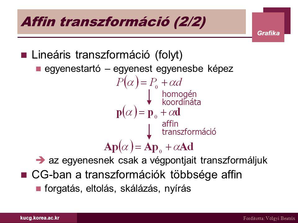 Affin transzformáció (2/2)
