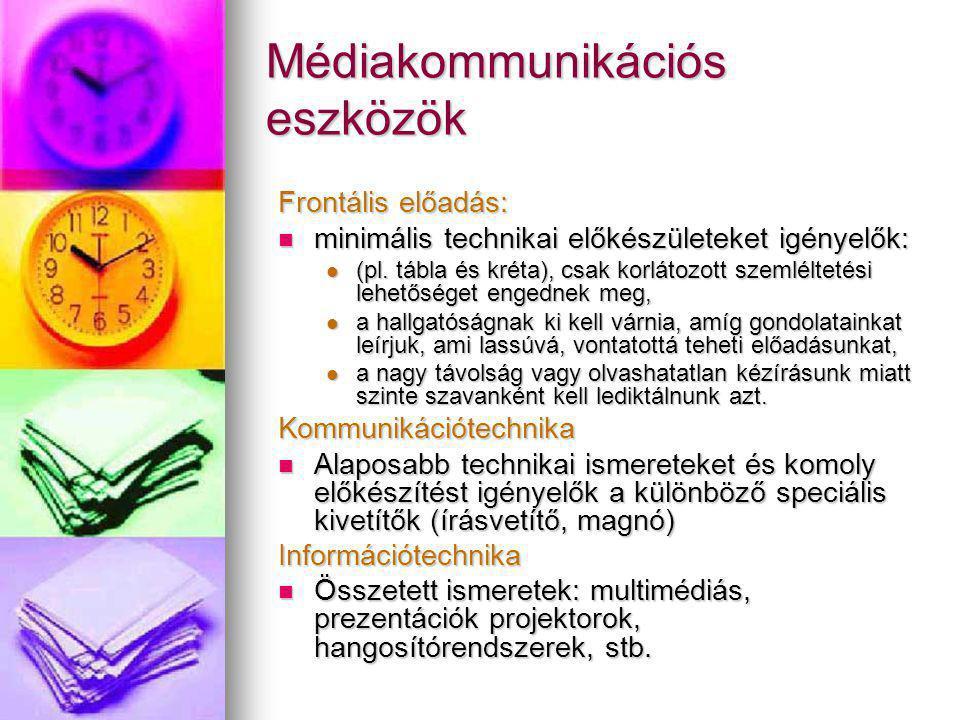 Médiakommunikációs eszközök
