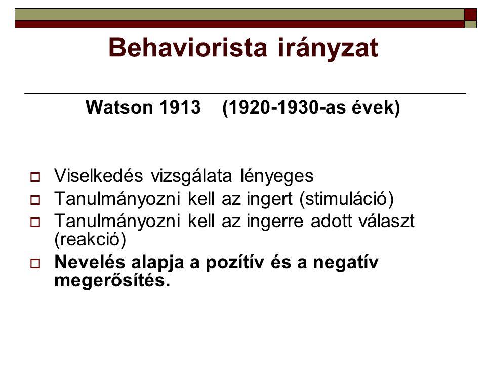 Behaviorista irányzat