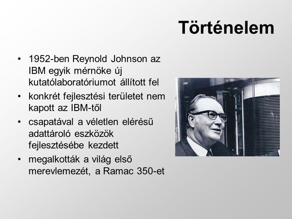Történelem 1952-ben Reynold Johnson az IBM egyik mérnöke új kutatólaboratóriumot állított fel. konkrét fejlesztési területet nem kapott az IBM-től.