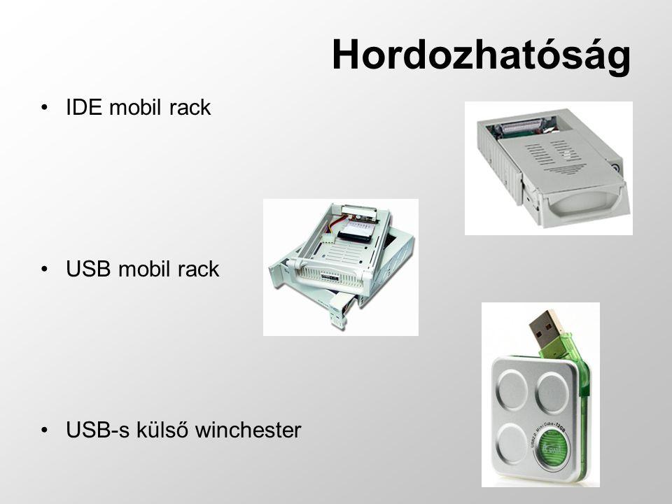 Hordozhatóság IDE mobil rack USB mobil rack USB-s külső winchester