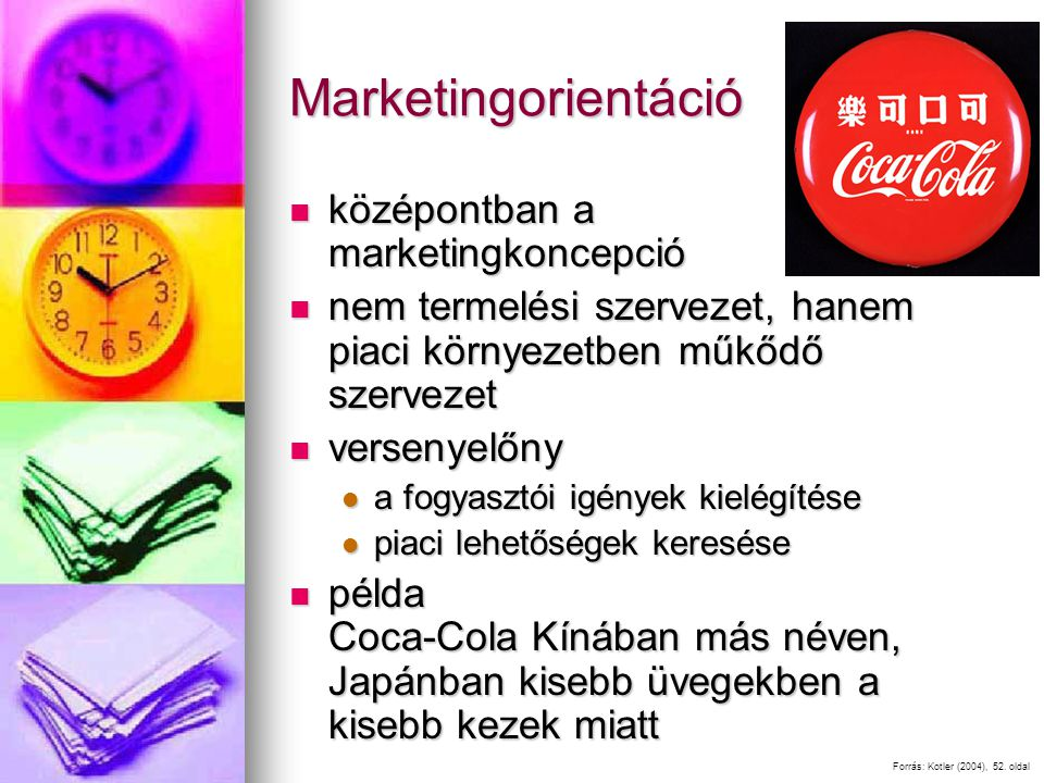Marketingorientáció középontban a marketingkoncepció