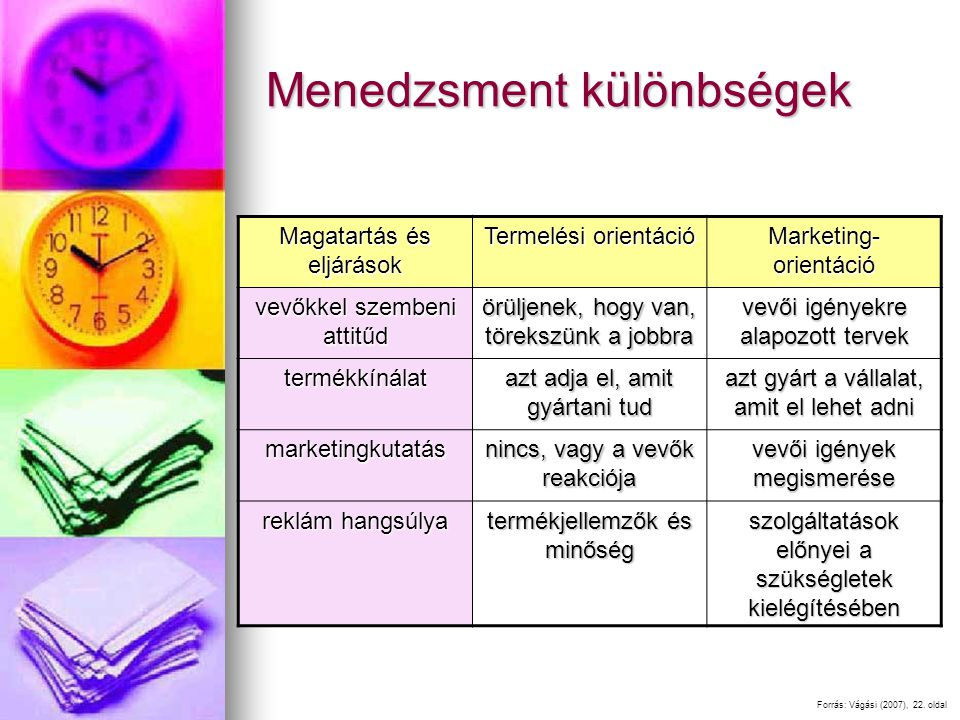 Menedzsment különbségek