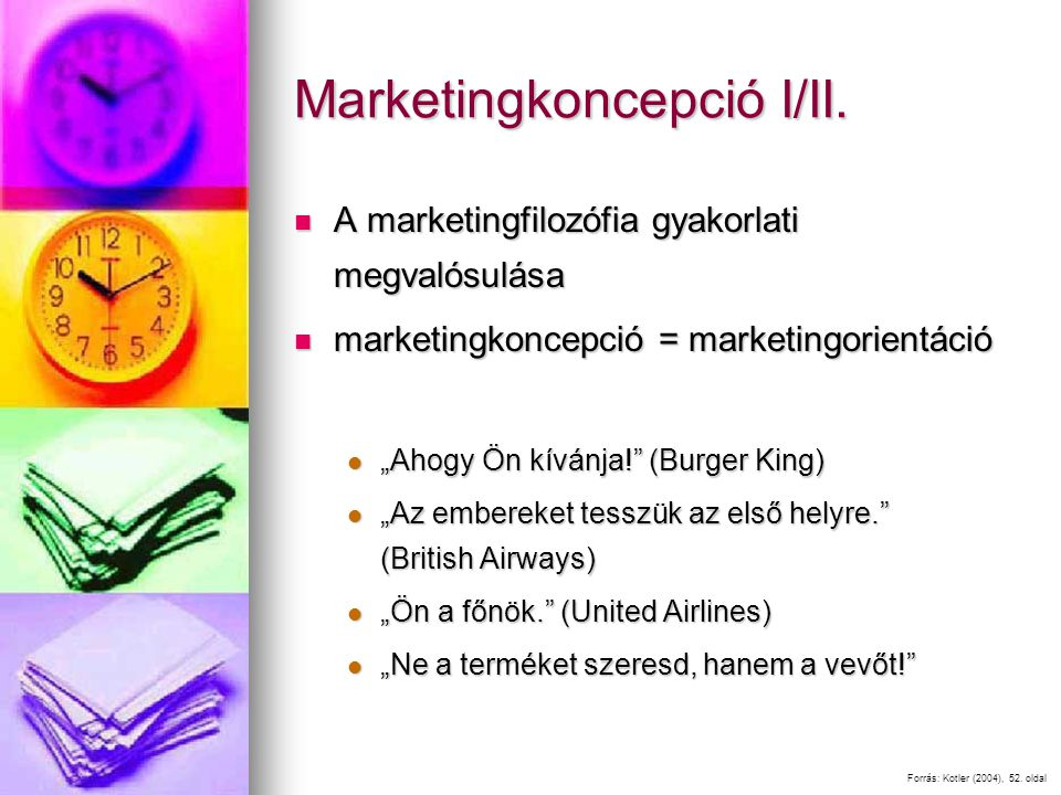 Marketingkoncepció I/II.