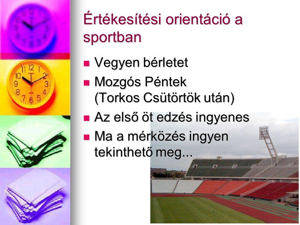 Értékesítési orientáció a sportban