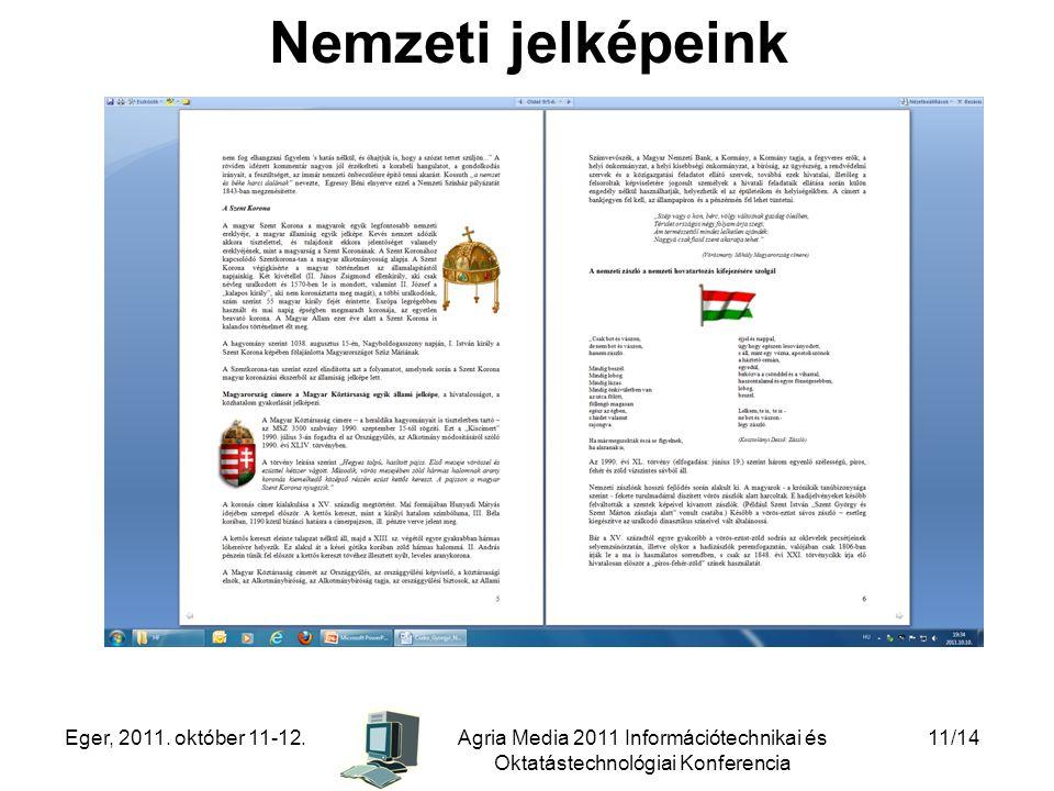 Nemzeti jelképeink Eger, 2011. október 11-12.