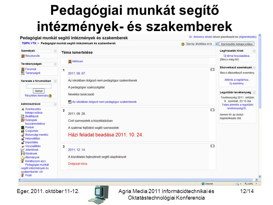 Pedagógiai munkát segítő intézmények- és szakemberek