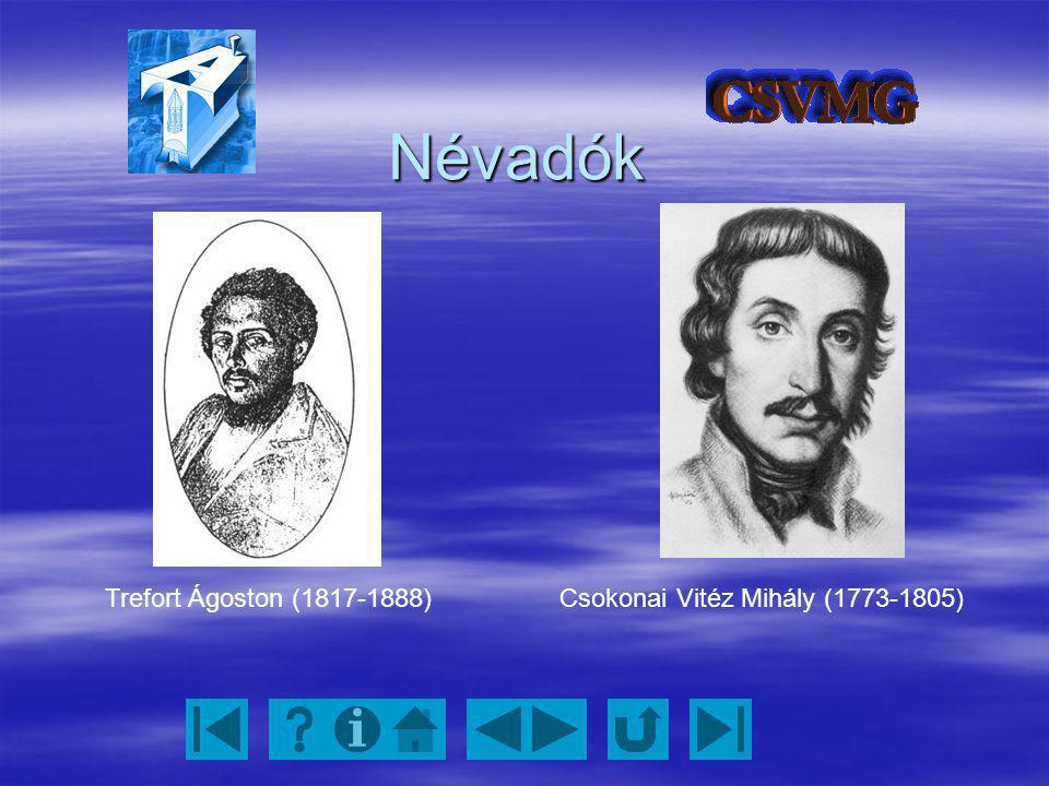 Névadók Trefort Ágoston (1817-1888) Csokonai Vitéz Mihály (1773-1805)