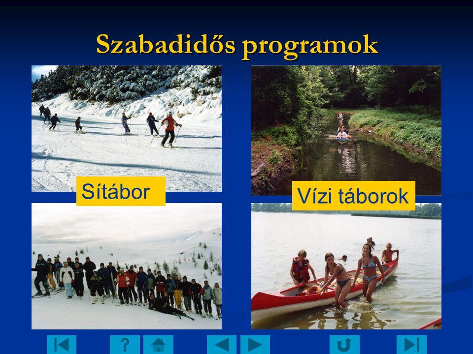 Szabadidős programok Sítábor Vízi táborok