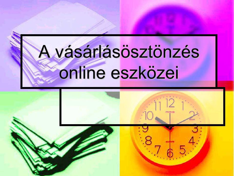 A vásárlásösztönzés online eszközei