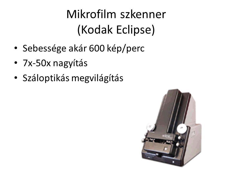 Mikrofilm szkenner (Kodak Eclipse)