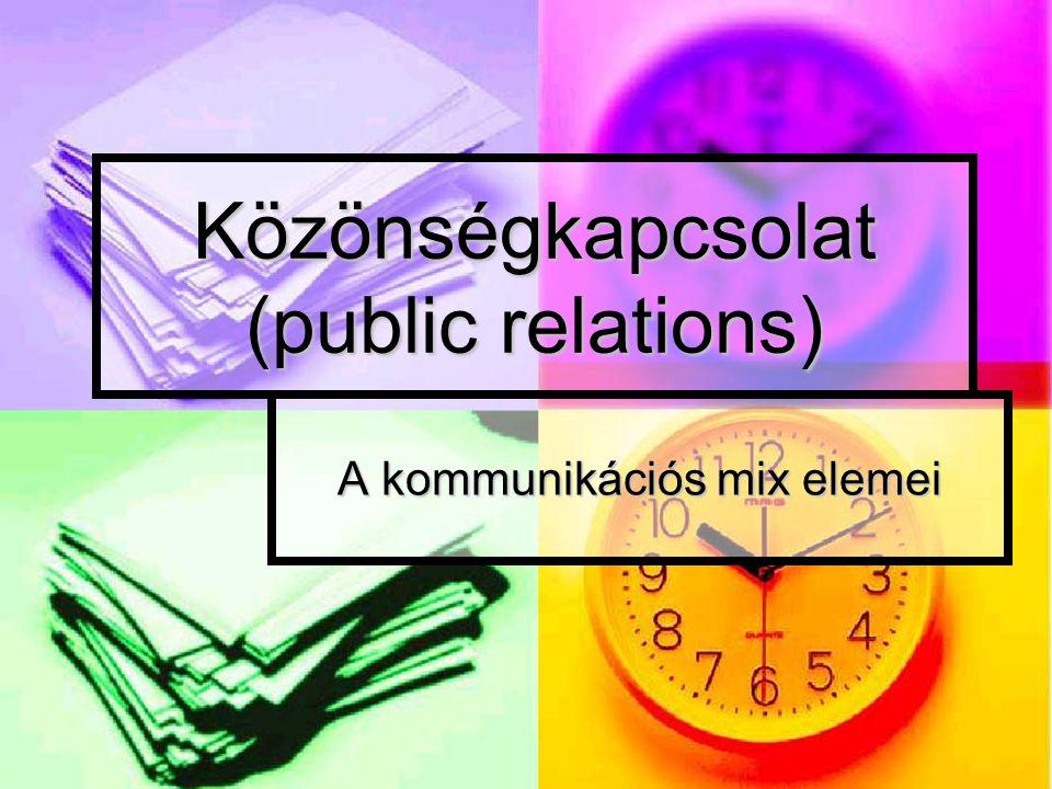 Közönségkapcsolat (public relations)