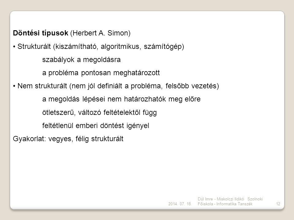 Döntési típusok (Herbert A. Simon)