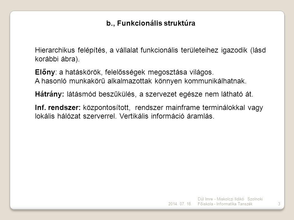 b., Funkcionális struktúra