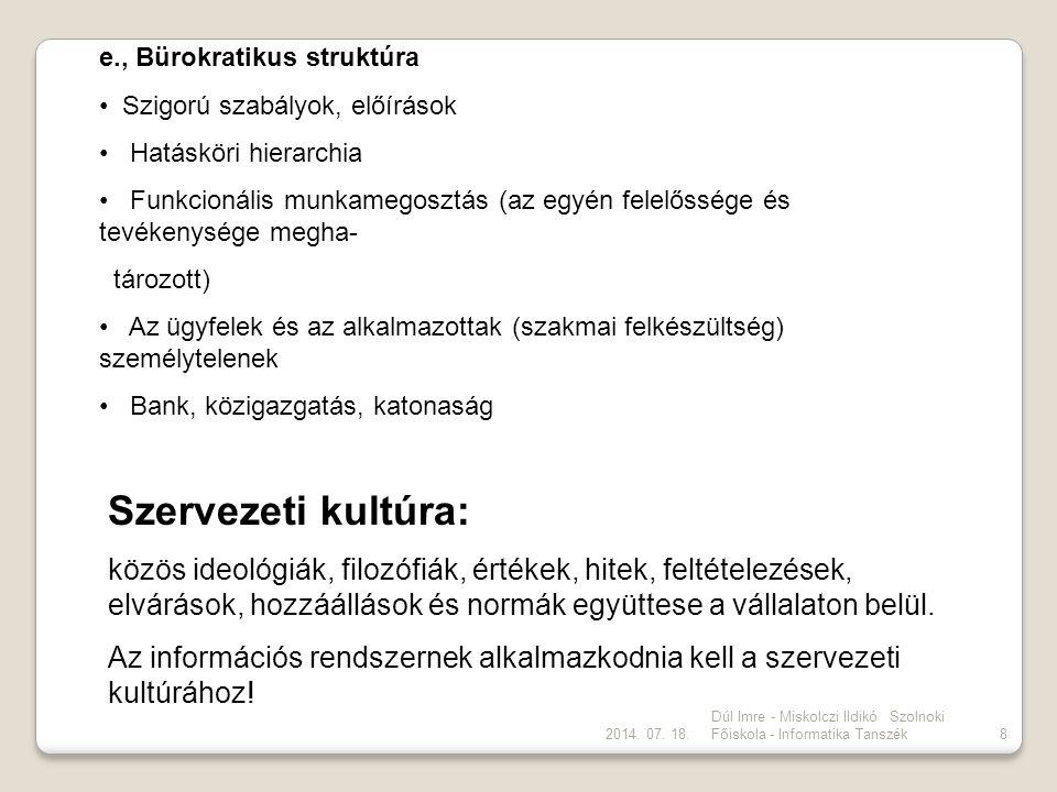 e., Bürokratikus struktúra