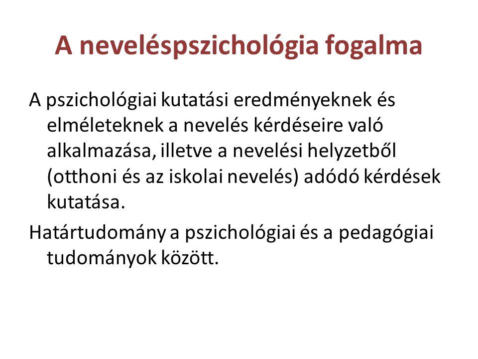 A neveléspszichológia fogalma