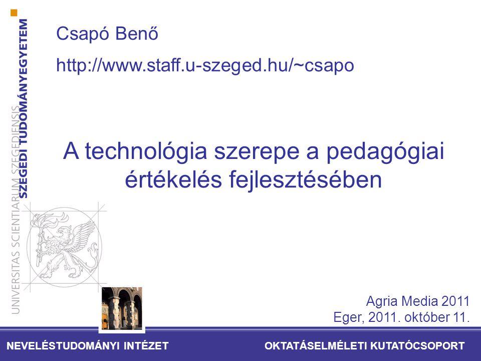 A technológia szerepe a pedagógiai értékelés fejlesztésében