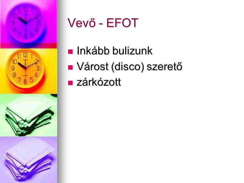Vevő - EFOT Inkább bulizunk Várost (disco) szerető zárkózott