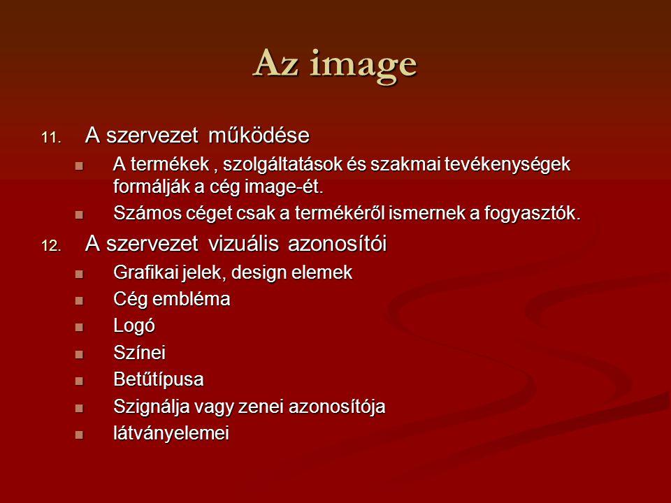 Az image A szervezet működése A szervezet vizuális azonosítói