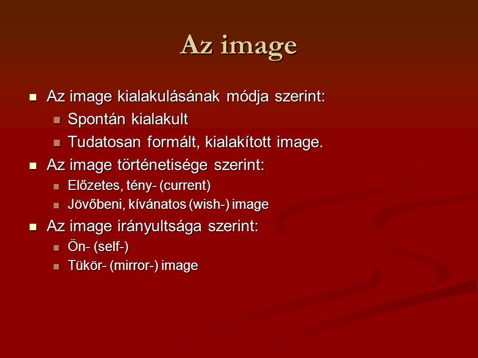 Az image Az image kialakulásának módja szerint: Spontán kialakult