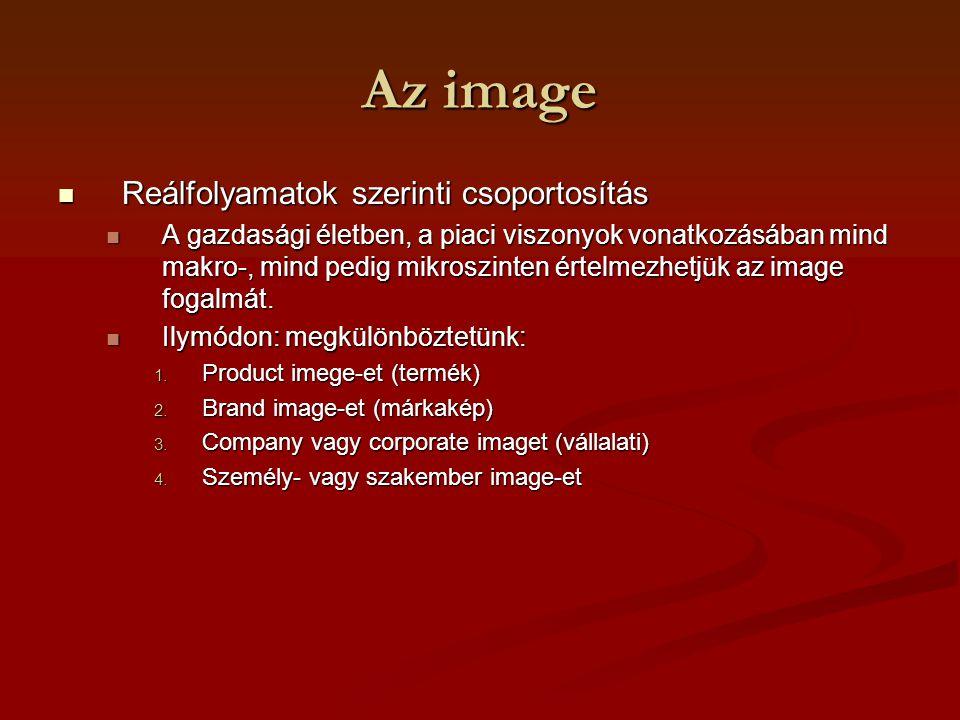 Az image Reálfolyamatok szerinti csoportosítás