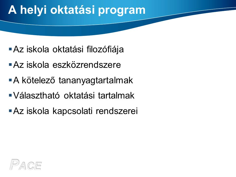 A helyi oktatási program