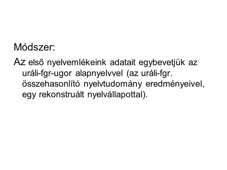 Módszer: