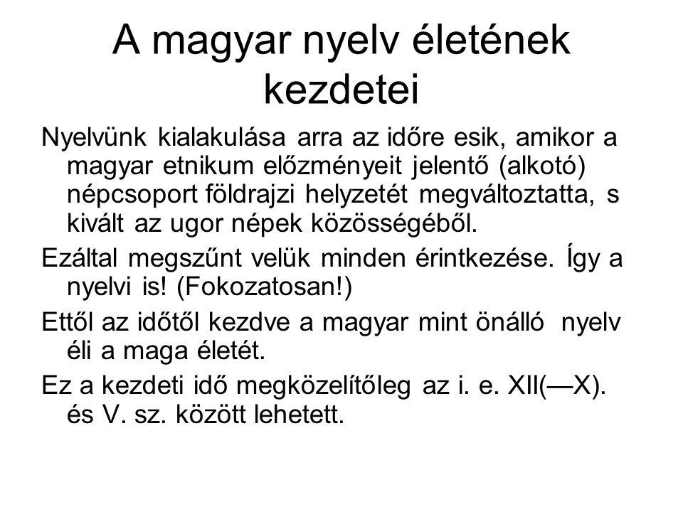 A magyar nyelv életének kezdetei