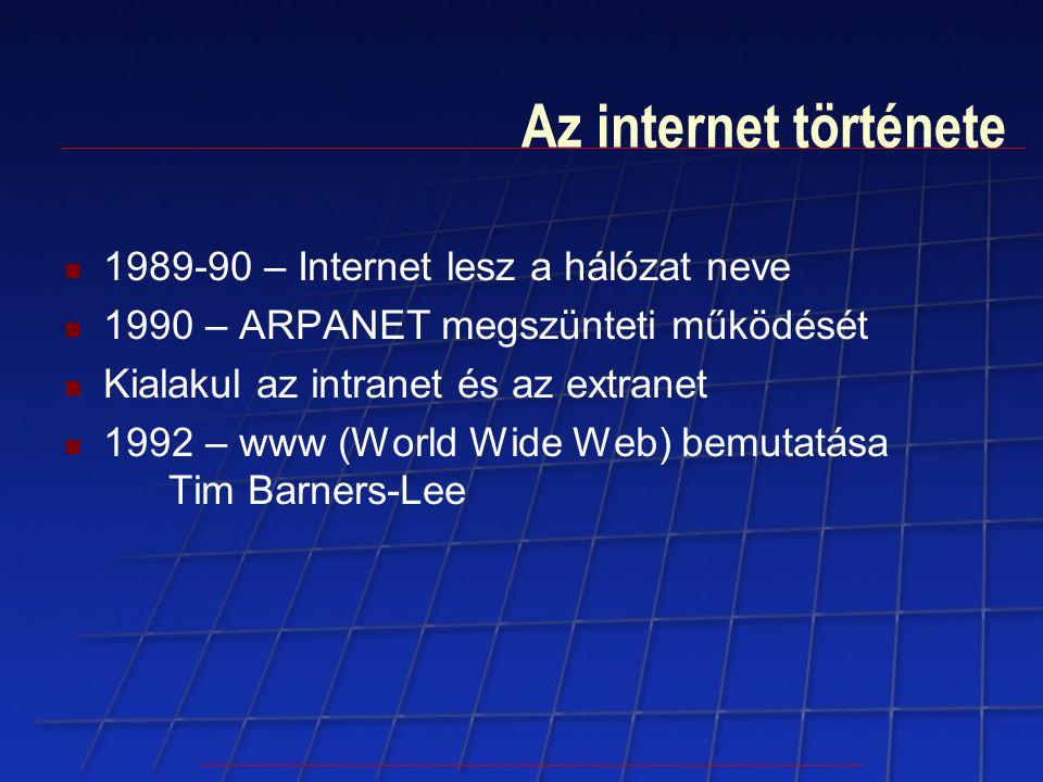 Az internet története 1989-90 – Internet lesz a hálózat neve