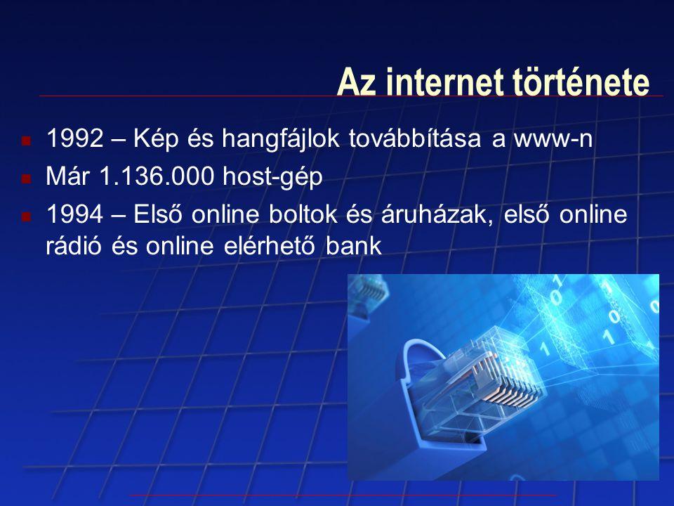 Az internet története 1992 – Kép és hangfájlok továbbítása a www-n