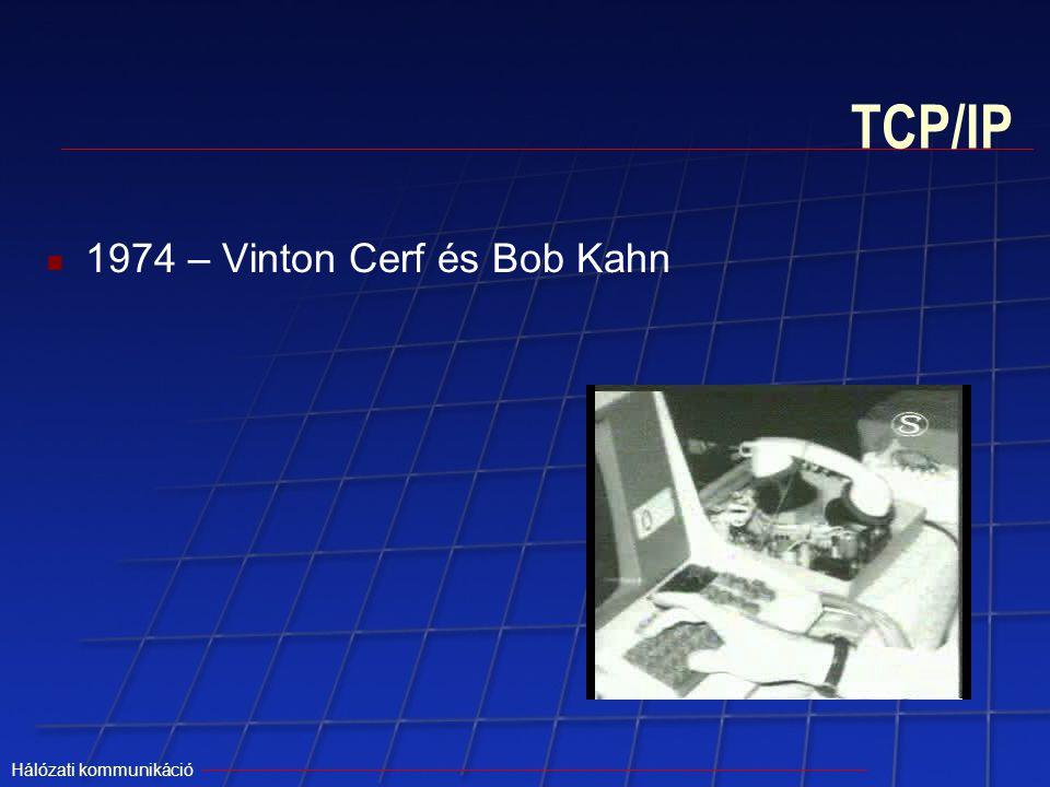 TCP/IP 1974 – Vinton Cerf és Bob Kahn Hálózati kommunikáció