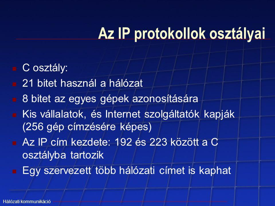 Az IP protokollok osztályai