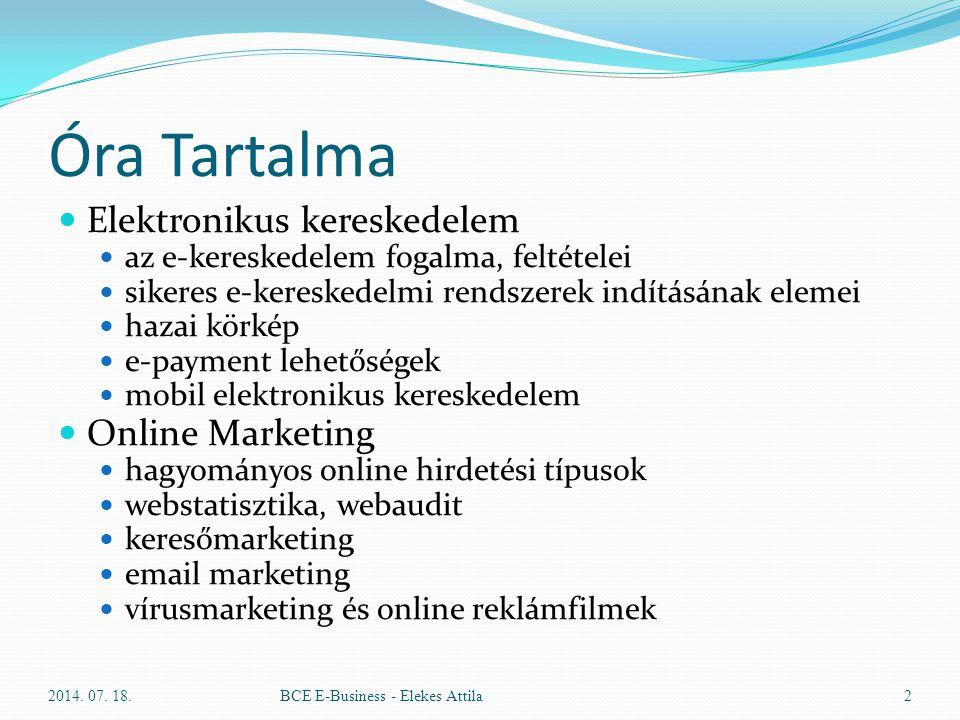 Óra Tartalma Elektronikus kereskedelem Online Marketing