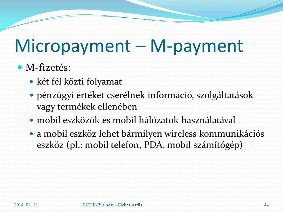 Micropayment – M-payment