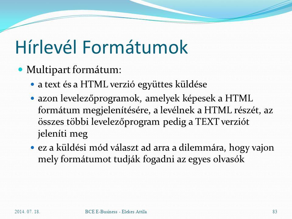 Hírlevél Formátumok Multipart formátum: