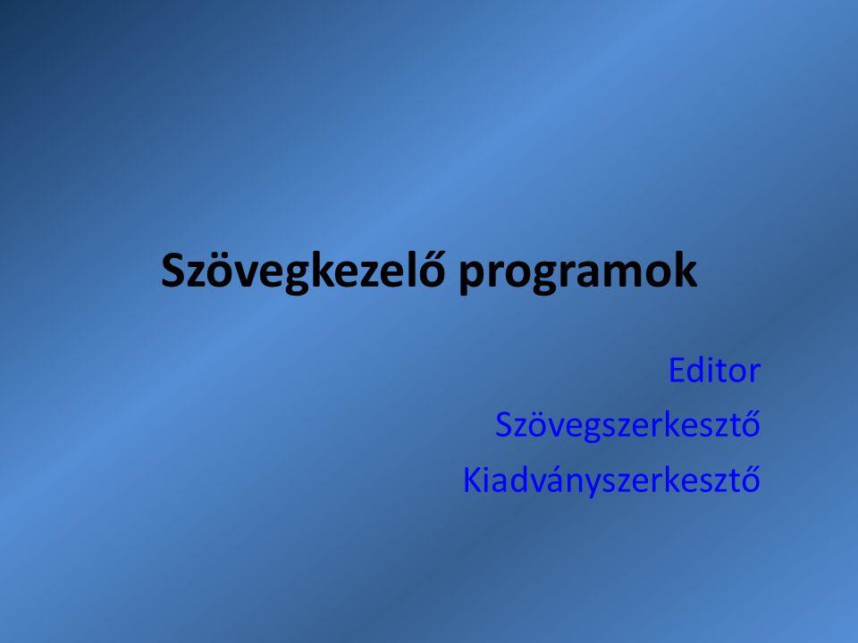 Szövegkezelő programok