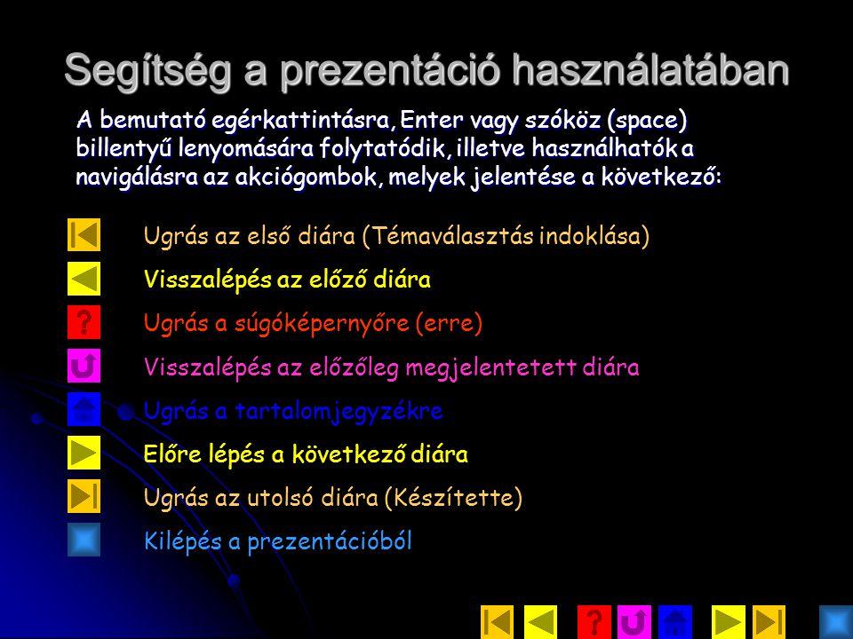 Segítség a prezentáció használatában
