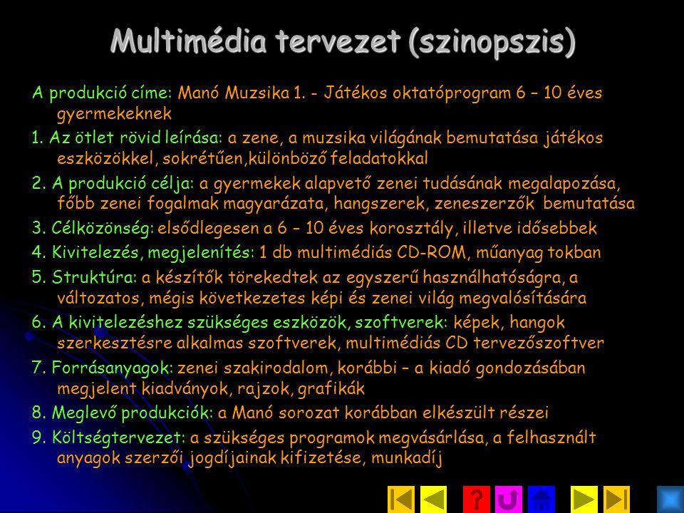 Multimédia tervezet (szinopszis)