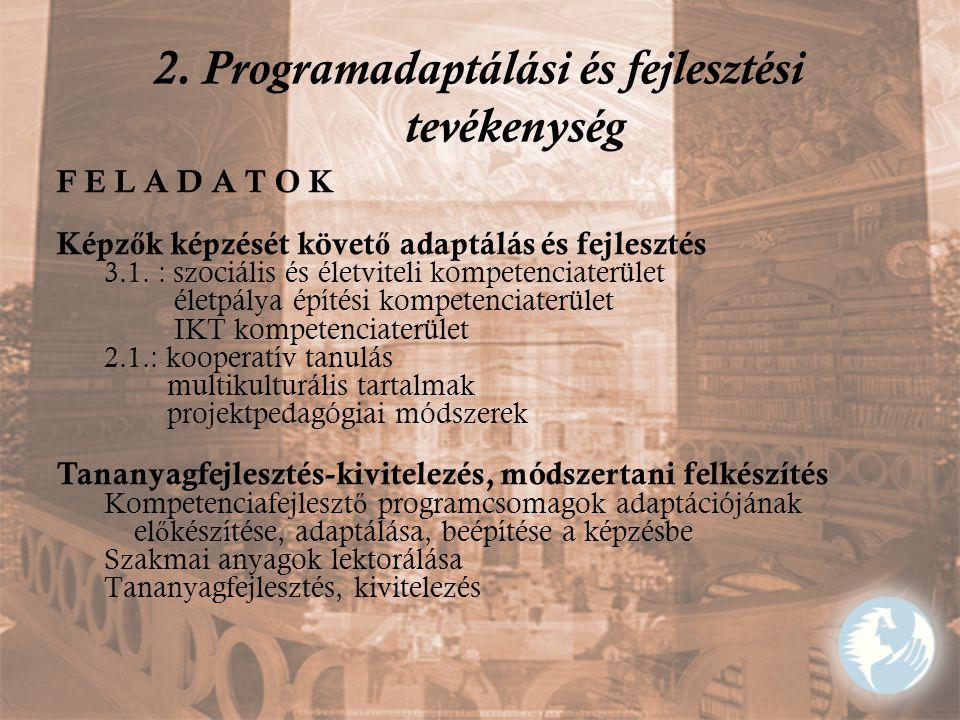 2. Programadaptálási és fejlesztési tevékenység