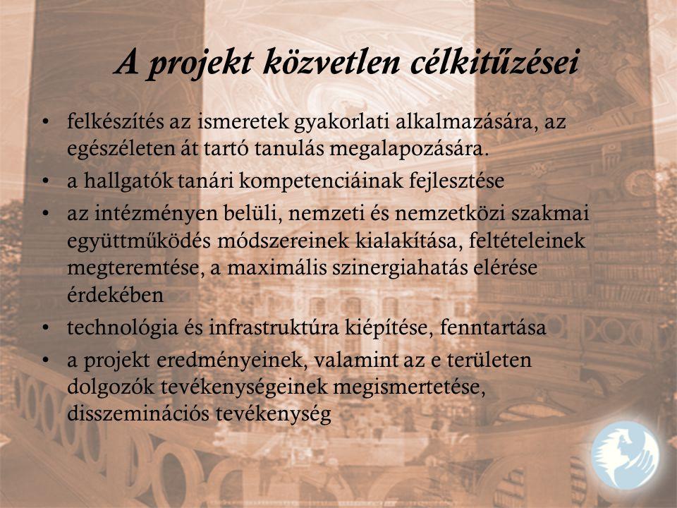 A projekt közvetlen célkitűzései