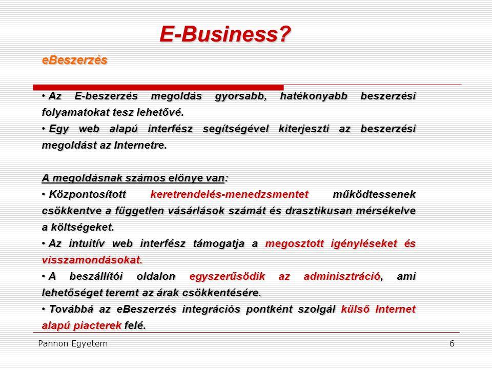 E-Business eBeszerzés