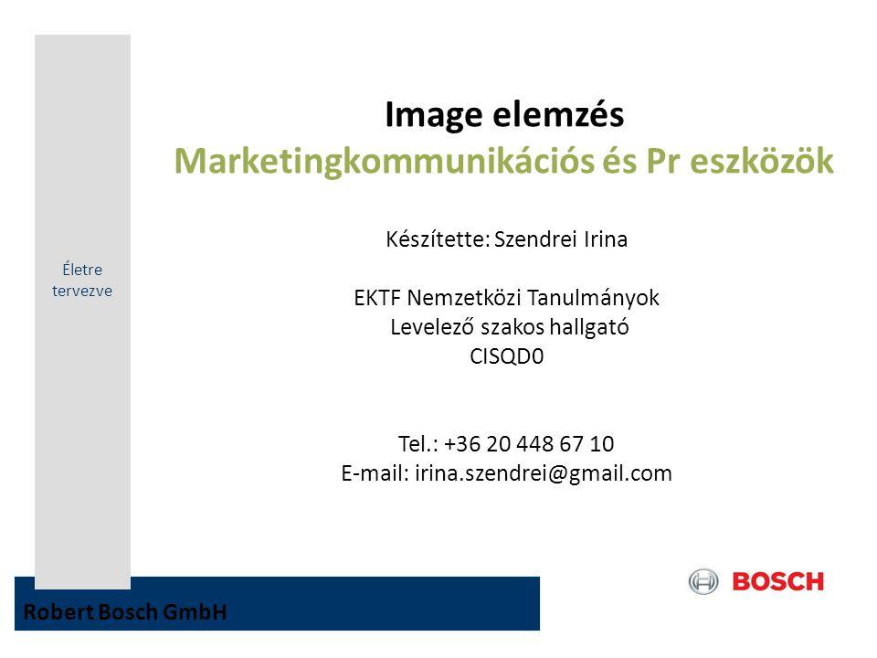 Image elemzés Marketingkommunikációs és Pr eszközök